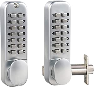 MUTEX MX920 Mechanical Combination Lock Dual Keypad 14 Digit Keyless Entry Gate Security for Home/Hotel/Airbnb