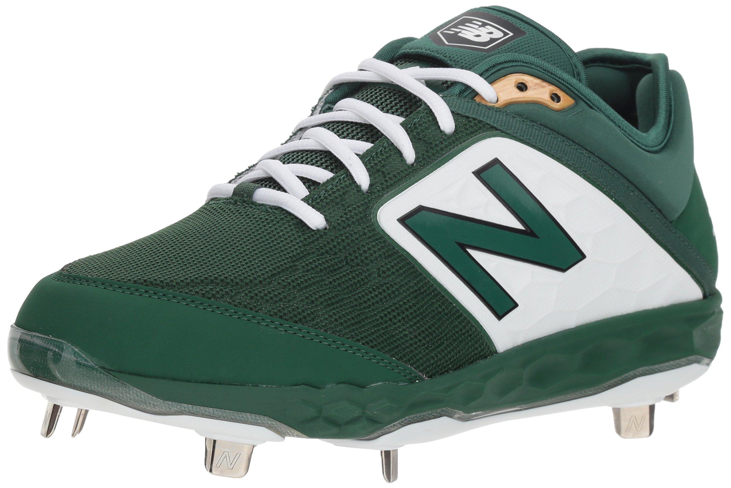 New Balance Men's 3000v4 Baseball Shoe, Green/White, 5 2E US