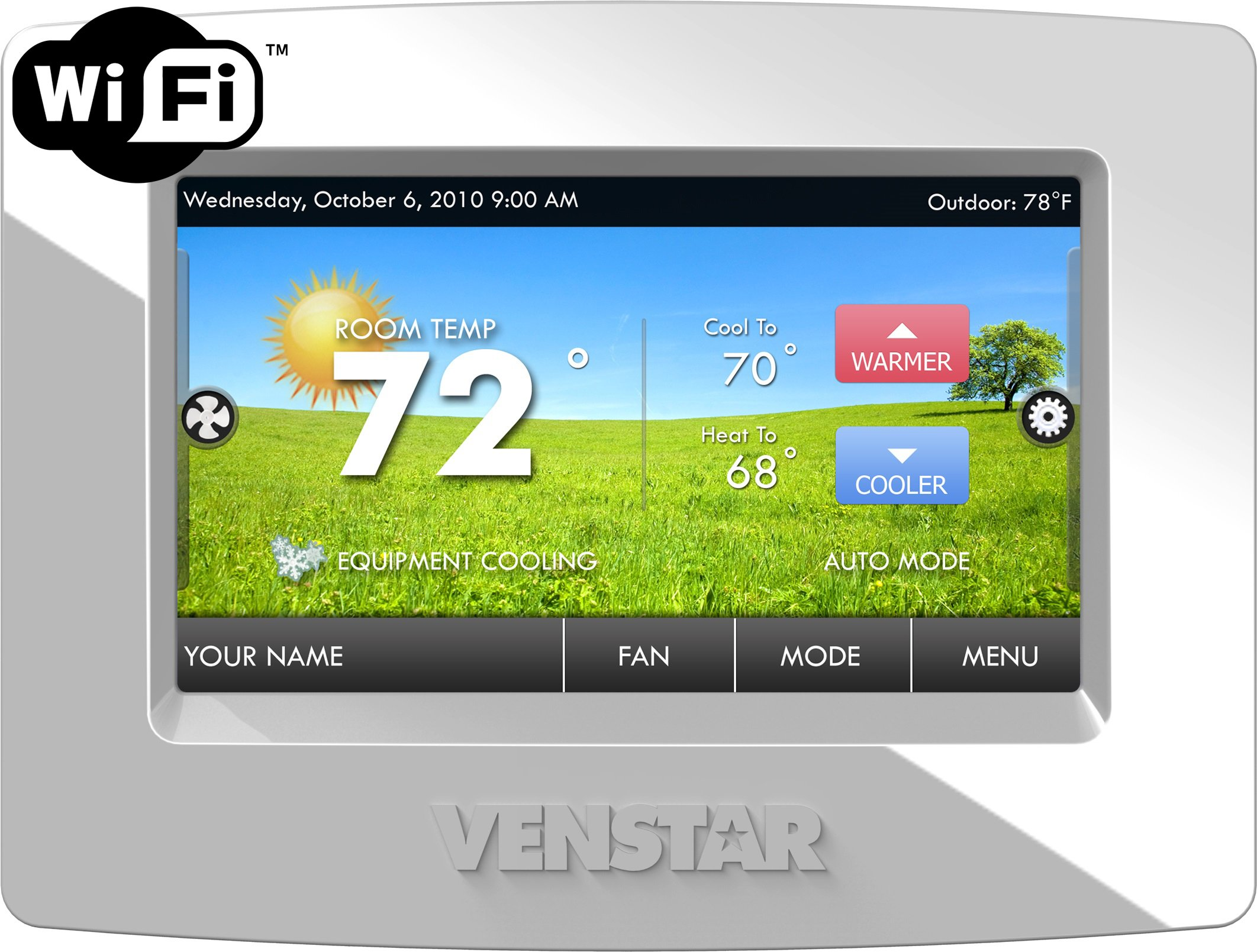 Venstar Thermostat, Built in Wi-Fi, Colortouch, Humidity Control, Works with Amazon Alexa
