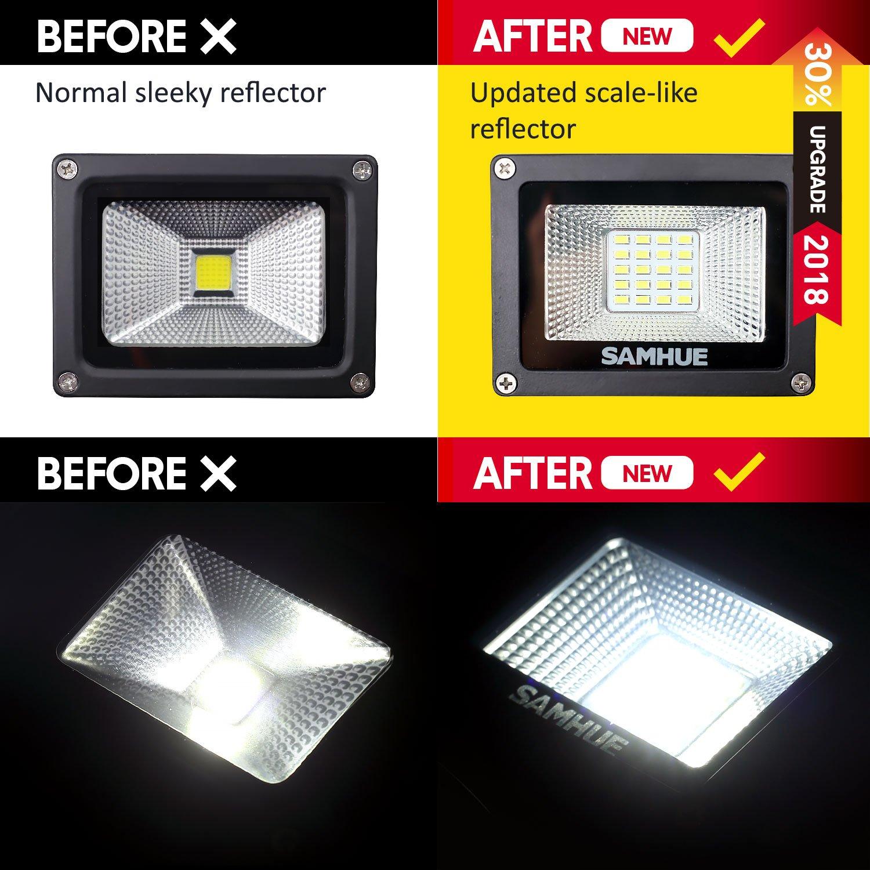 10W Foco LED con Sensor Movimiento Foco Exterior Led Con Sensor SAMHUE Proyector LED Exterior Resistente al Agua IP65 1000Lumen Paquete de 2: Amazon.es: ...