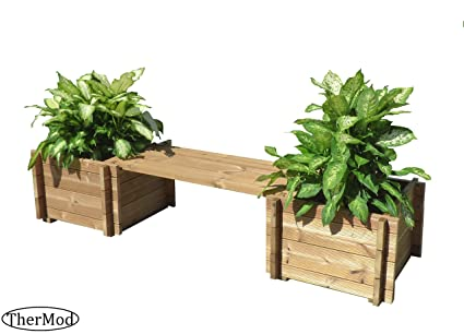 Admirable Amazon Com Organic Gardening Wood Planter Box Bench Helene Pabps2019 Chair Design Images Pabps2019Com