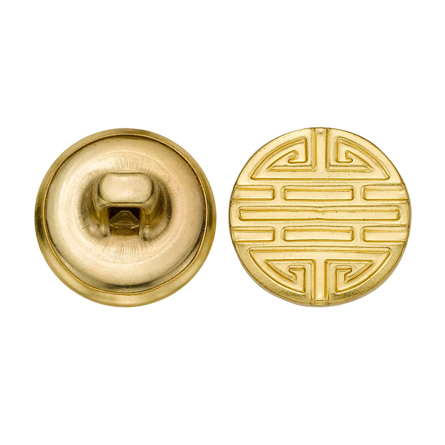 C/&C Metal Products 5247 Modern Metal Button Gold Size 24 Ligne 72-Pack