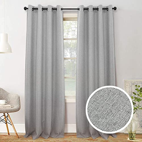 SHERY Window Curtain Panels Top Grommet Blacokout Thermal Curtain Drapes Room Divide Privacy Curtain Line, 5284