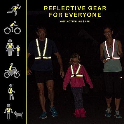 Gr/ün uchidodo Warnweste,Warnweste Fahrrad Reflektierende Reflektorb/änder Reflektorweste Sicherheitsweste Elastisch f/ür Jogging,Radfahren,Wandern,Motorrad-Reiten oder Laufen