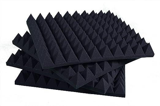 6 opinioni per Pannelli Fonoassorbenti Piramidali Isolanti acustici 50x50x6 D30 nero