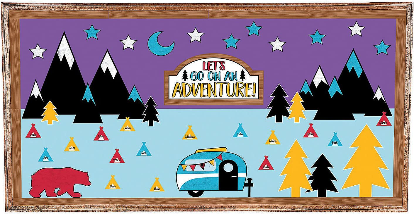 Fun Express Adventure Bulletin Board Set - 284 Pieces - Educational and Learning Activities for Kids