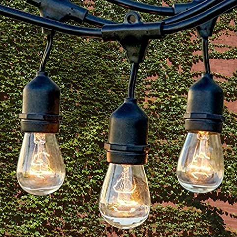 Perfect Waterproof Commercial String Lights Heavy Duty Garden Light Indoor Outdoor  Vintage Connectable Strand Light Set With
