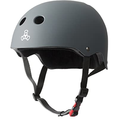 Triple Eight The Certified Sweatsaver Helmet for Skateboarding, BMX, and Roller Skating: Sports & Outdoors