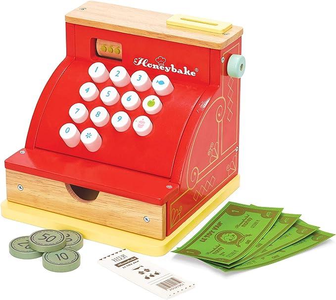 Honeybake Le Toy Van Tv295 Red Madera Caja registradora: Amazon.es ...
