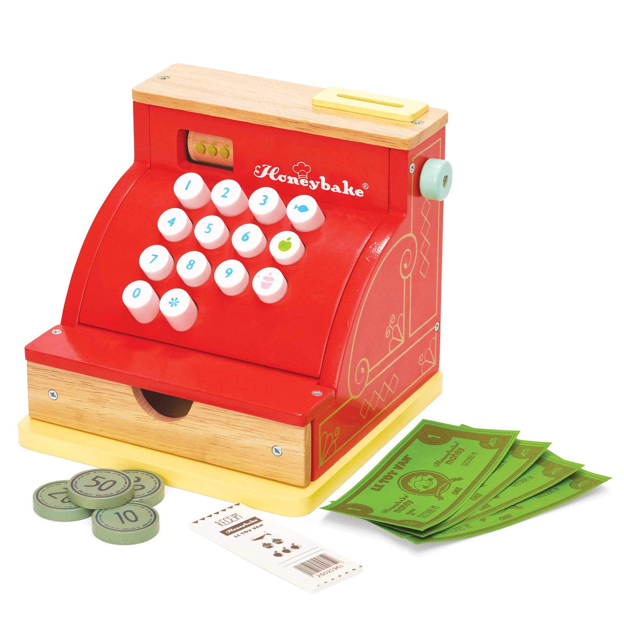 Letterland Le Toy Van Honeyback Collection Red Cash Register Premium Wooden Toys for Kids Ages 3 Years & Up by Letterland (Image #3)