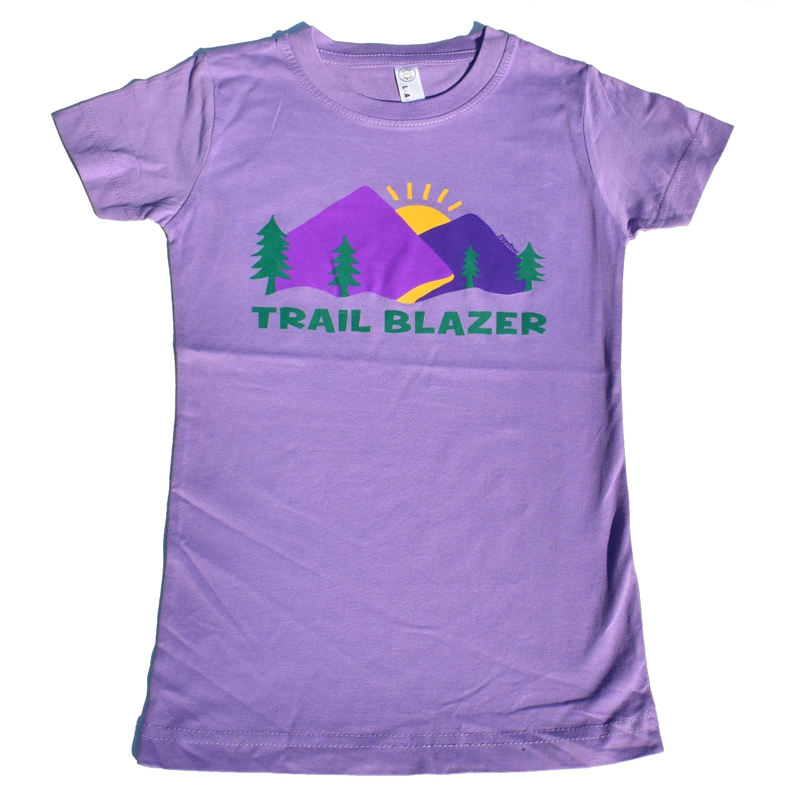 ZippyRooz Toddler & Kids Hiking Camping Tee Shirt Trail Blazer For Youth Girls (S (6-8))