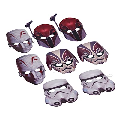 American Greetings Star Wars Rebels Masks, 8 Count, Party Supplies Novelty: Toys & Games