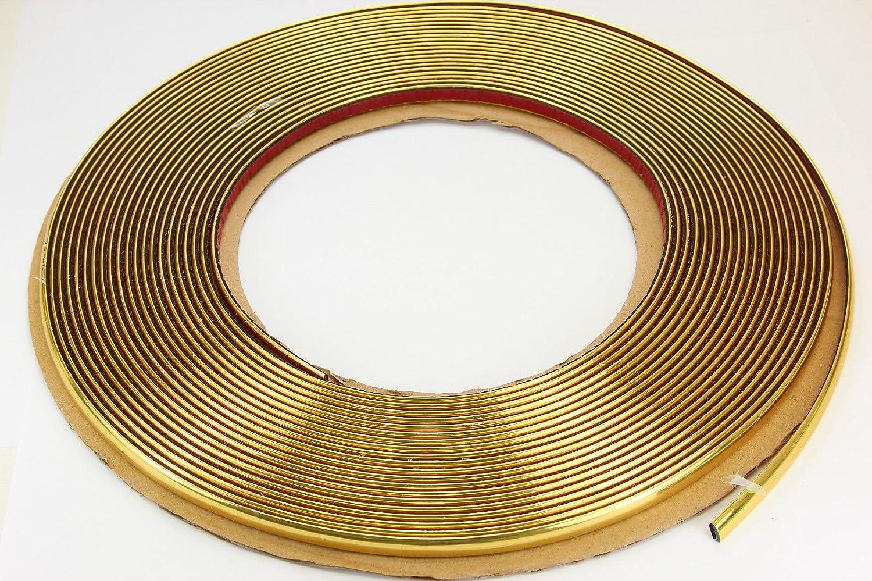CHROM Zierleiste 12mm x 15m selbstklebend universal für Auto Goldleiste Kontur