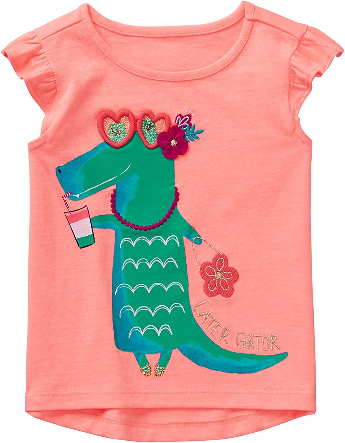Gymboree Baby Girl Flamingo /& Crocodile Trip Tee Shirt