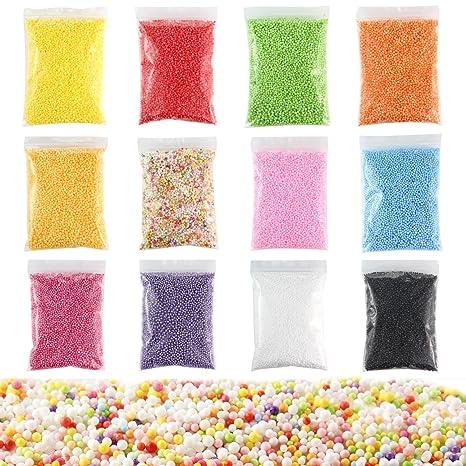 Bolas de espuma Leegoal para bricolaje y Slime, 12 unidades de bolas de espuma de
