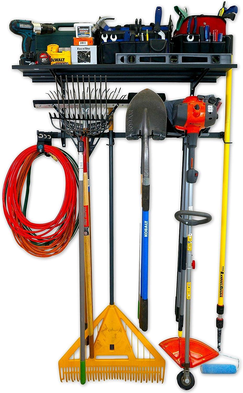 StoreYourBoard Omni Garage Pro, Garage Organizer and Tool Storage, Wall Mount Hanger Plus Shelf
