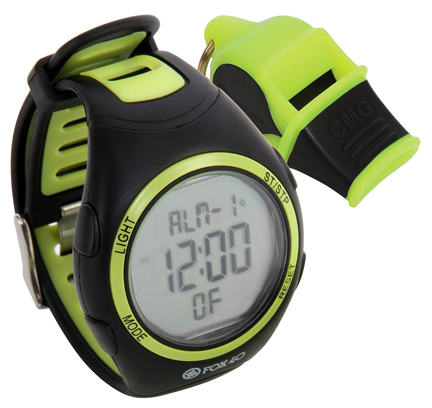 FOX 40 Whistle watch reloj + Sonik Blast CMG amarillo/negro