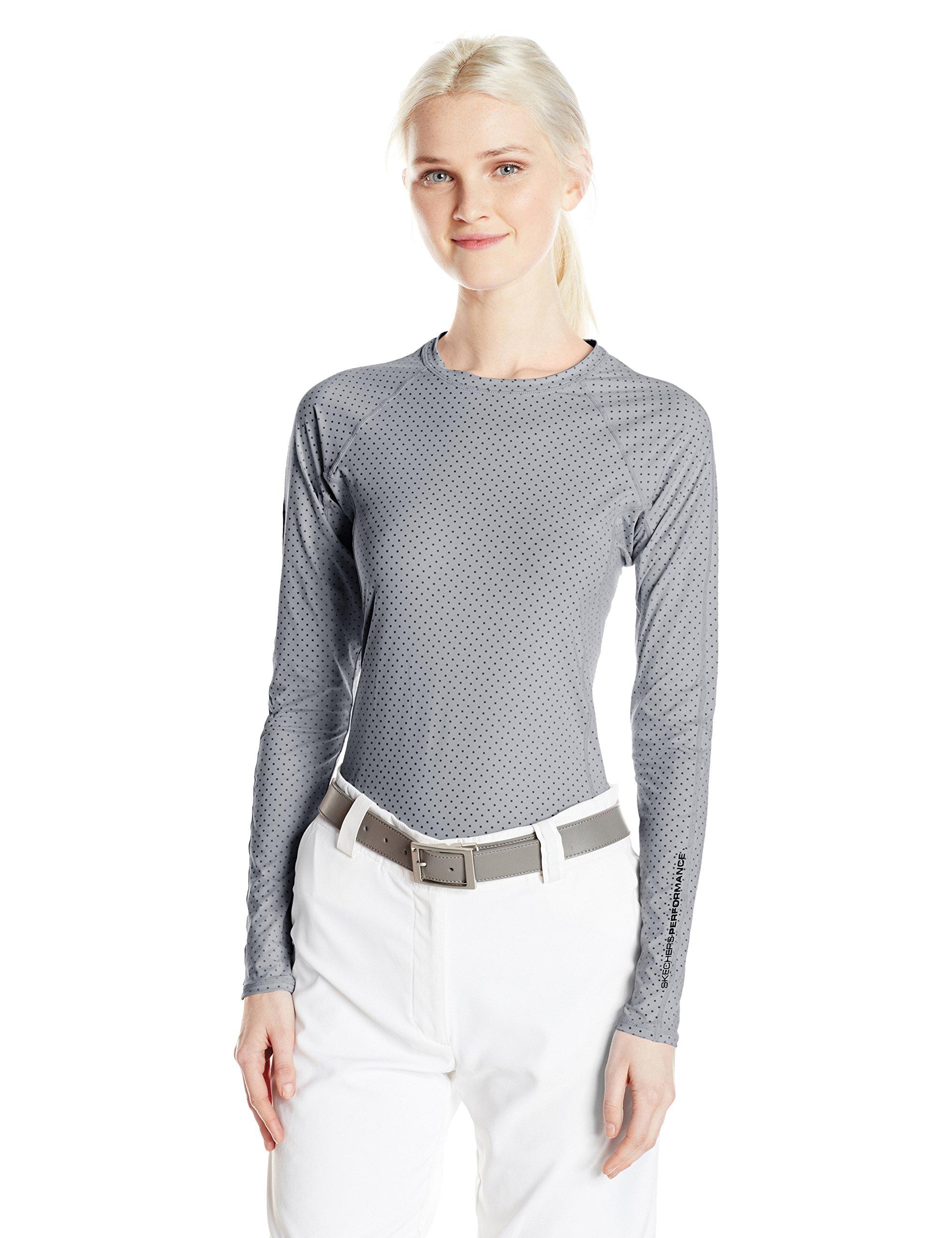 Skechers Women's Go Golf Layer Top, Gray, L