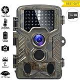Caméra de Chasse Fivanus 16MP 1080P HD Caméra Animaux de Surveillance 120°Grand Angle Imperméable IP56 Piège Photographique 20M Vision Nocturne Infrarouge 49 LEDs IR Basse Luminosité Camera de Surveillance