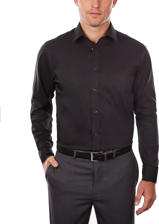 Arrow Herren Dress Shirt Regular Fit Stretch Poplin Solid Smokinghemd