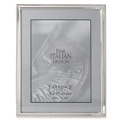 Amazon Lawrence Frames Polished Silver Plate 8x10 Picture