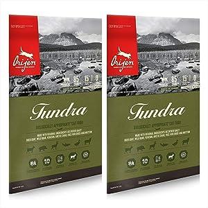 Orijen Tundra Dry Cat Food (2 Pack) 12 Lb. Each Biologically Appropriate Tundra Cat Food