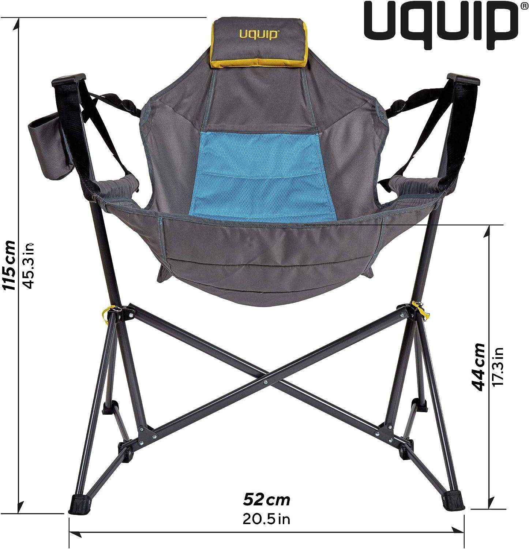 leichtes Gewicht kleines Packma/ß bis 120kg Outdoor H/ängesessel mit Gestell Uquip Campingstuhl Rocky