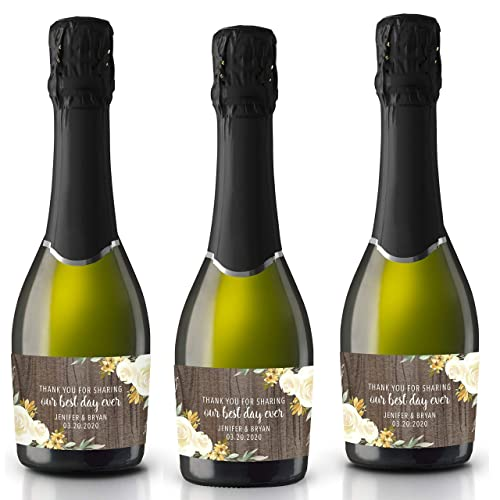 Best Day Ever Gold Mini Champagne Bottle Labels set of 20 Party Decoration