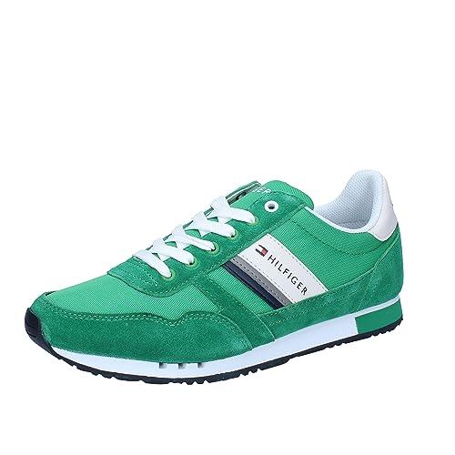 b2b74c1d7b36c1 Tommy Hilfiger MAXWELL3C Sneaker Uomo Camoscio E Tessuto Verde Verde 45:  Amazon.it: Scarpe e borse