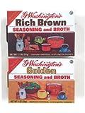 G Washington's Seasoning and Broth, Golden & Rich Brown Variety Set [1 Box of Each]
