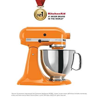 Fantastic Kitchenaid Artisan Series 5Ksm150Psdtg 300 Watt Tilt Head Stand Mixer 4 8 Litre Tangerine Download Free Architecture Designs Scobabritishbridgeorg