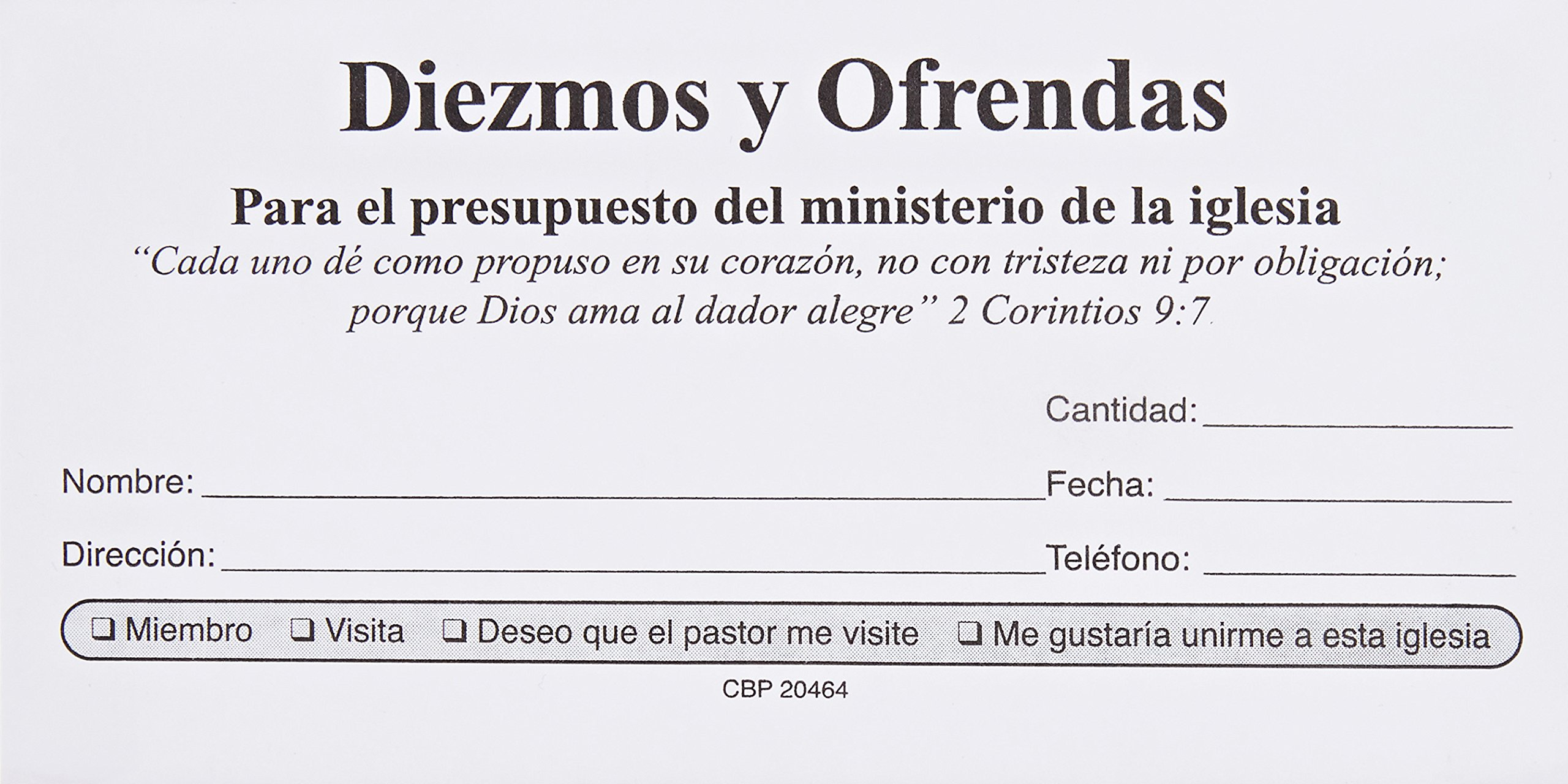 Sobres de Diezmos y Ofrendas (Spanish Edition): varios: 9780311204649: Amazon.com: Books