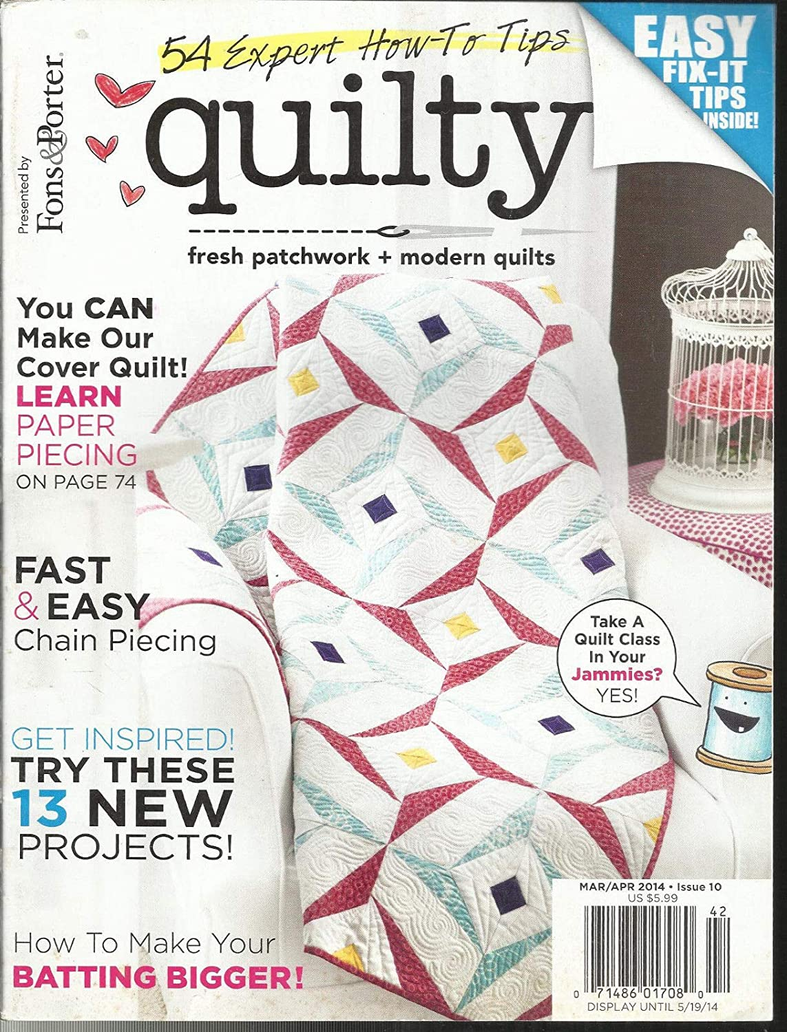MARCH//APRIL MODERN QUILTS FONS /& PORTER 2014 FRESH PATCH WORK QUILTY