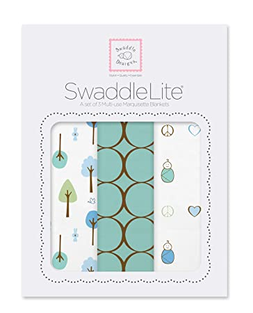 "SwaddleDesigns 100/% Cotton Muslin Swaddle Blanket 46/"" x 46/"" ~NEW~ Cute Designs!"