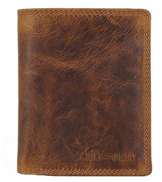 f27baf032fcfc Kompakte Herren Leder Geldbörse geräumiger Geldbeutel mit Münzfach Portmonee  Portemonnaie mit vielen Fächern braun