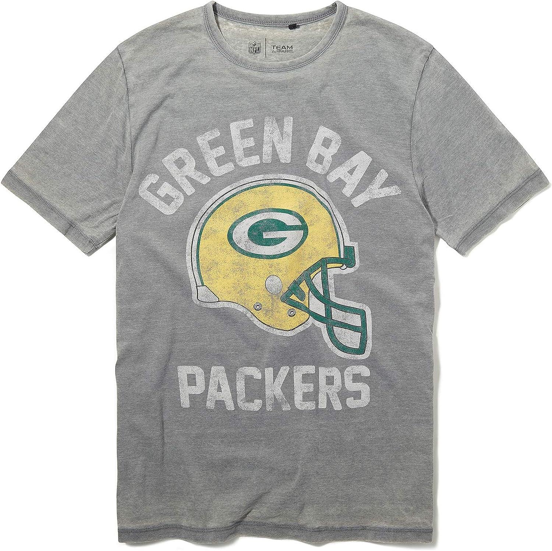 Recovered NFL Green Bay Packers - Camiseta con estampado de casco gris