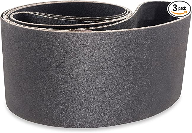 6 Pack 2 1//2 X 16 Inch 120 Grit Silicon Carbide Sanding Belts