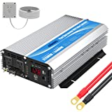 GIANDEL 2200W Pure Sine Wave Power Inverter 12V DC to 110V 120V AC with 20A Solar Charge Control and Remote Control&LED…
