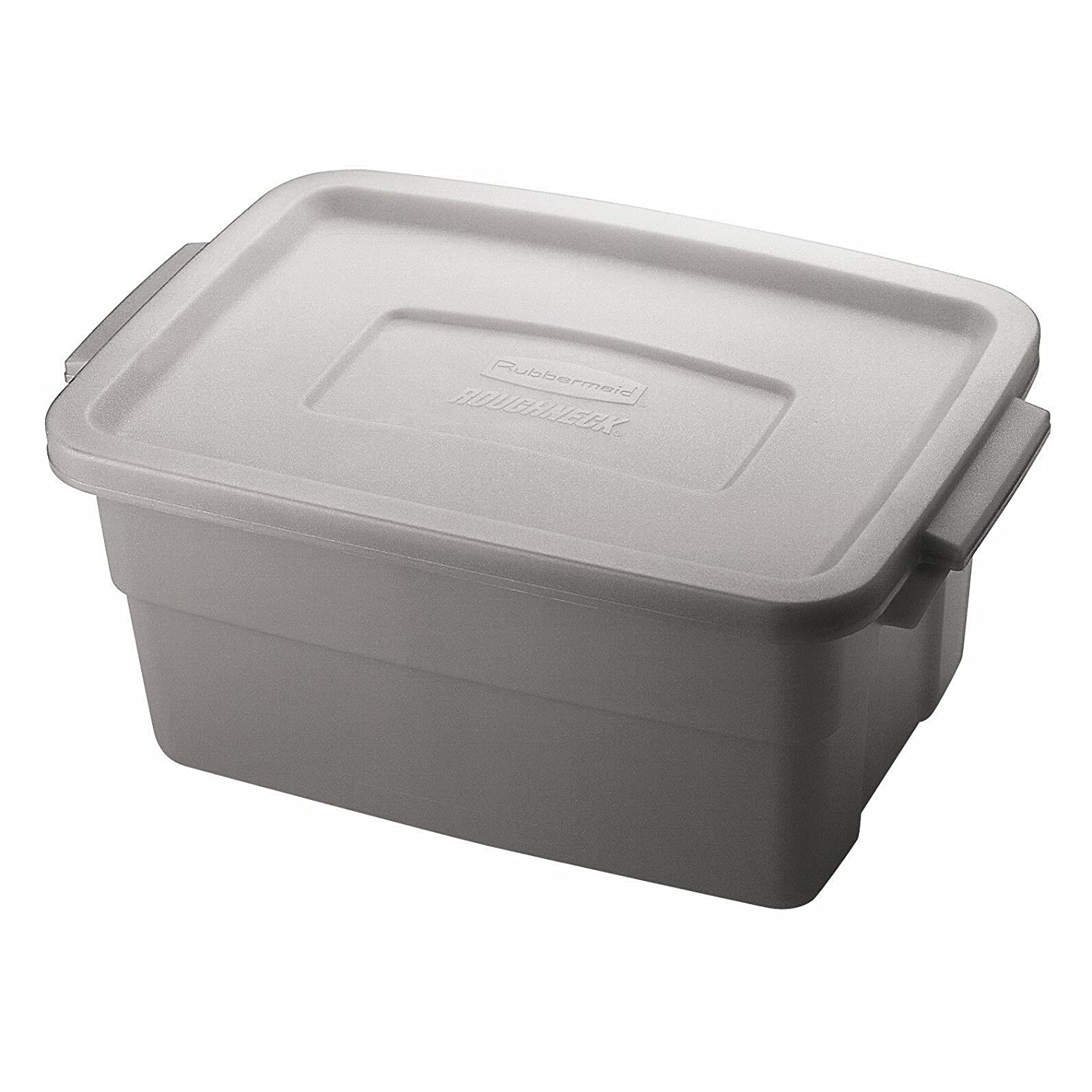 Amazon.com   Rubbermaid FG221300STEEL Roughneck Storage Container Box,  Polyethylene, 3 Gallon, (Pack Of 12)   Lidded Home Storage Bins