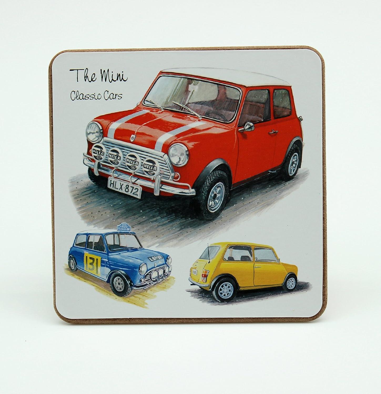Posavasos con diseño de Minis clásicos, pack de 1 unidad, 10 x 10 cm: Amazon.es: Coche y moto