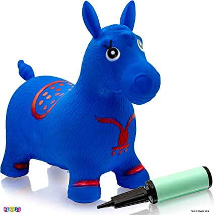 Amazon.com: Caballo Hopper azul – inflable caballo Bouncer ...