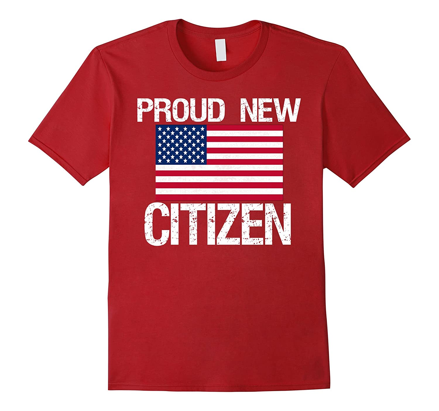 AM New American Citizen: Proud New American Citizen T-Shirt-BN