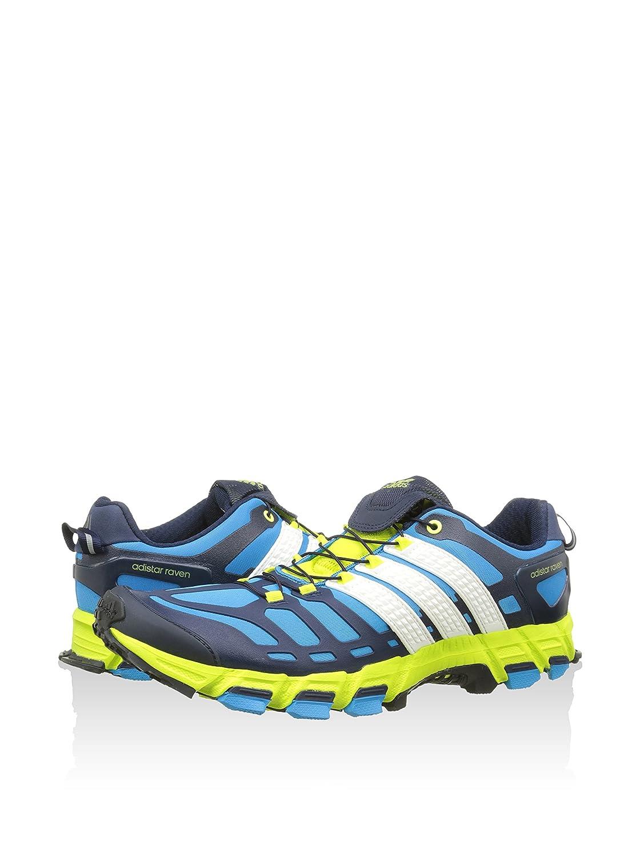 buy popular 380d2 b4bab adidas Zapatillas Adistar Raven 3 AzulAmarillo Flúor EU 44 (UK 9.5)  Amazon.es Zapatos y complementos