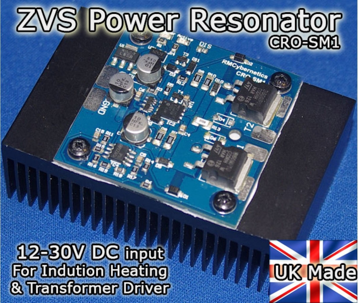 Zvs Power Resonator Cro Sm1 Ultra Compact Induction Heater Circuit Transformer Tesla Coil Driver On Schematic Diagram 1 Business Industry Science