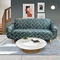 Advwin Stretch Sofa Cover Soft and Comfortable Upgrade Pattern Couch Covers Dog, Cat Pet Slipcovers Furniture Protectors and Additional Cushion Cover (2 Seater, Trajectory) 145-185cm
