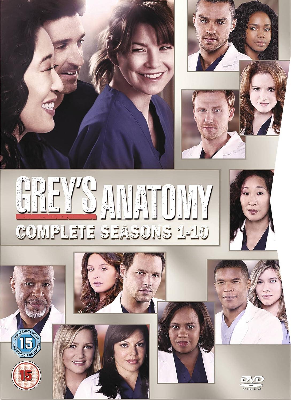 Greys Anatomy Season 1 10 Dvd Amazon Ellen Pompeo