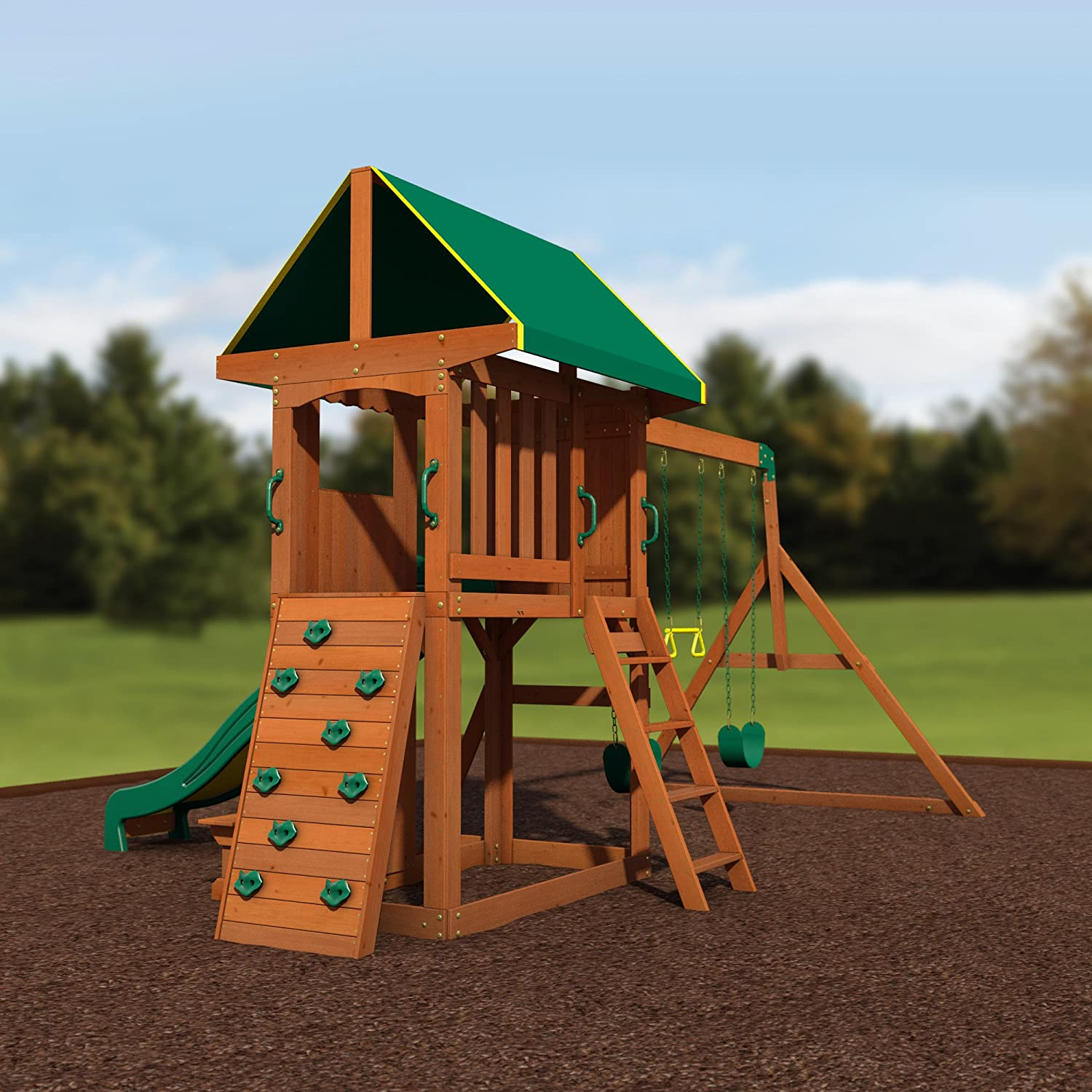 amazon com backyard discovery somerset all cedar wood playset
