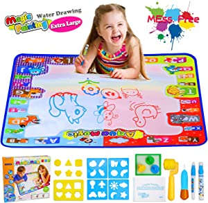 Ayeboovi Toddler Toys Water Drawing Mat Toy for 3 4 5 Year Old Girl Magic Toddler Painting Kit
