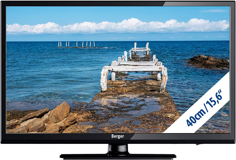 Berger LED TV 15,6 Pulgadas Full HD USB DVD Triple Tuner 12 V/230 ...