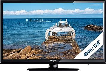 Berger LED TV 15,6 Pulgadas Full HD USB DVD Triple Tuner 12 V/230 V TV F. Camiones Coche Caravana: Amazon.es: Electrónica